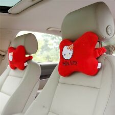 2Pcs Red hello kitty Auto Car Seat Head Rest Cushion Pillows Neck Rest Pillow