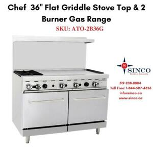 Buy Affordable Chef 36 Flat Griddle Stove Top with 2 Burner Gas Range Canada Preview