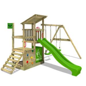 FATMOOSE-FruityForest-Fun-XXL-Holz-Spielturm-Kletterturm-Doppelschaukel-Rutsche