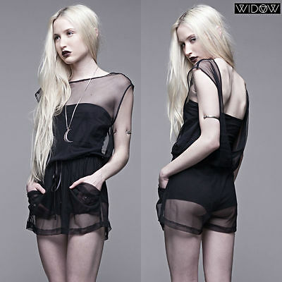 LIP SERVICE SHEER MESH SHORTS FETISH GOTHIC SEXY PIN UP HOT JUMPSUIT ROMPER