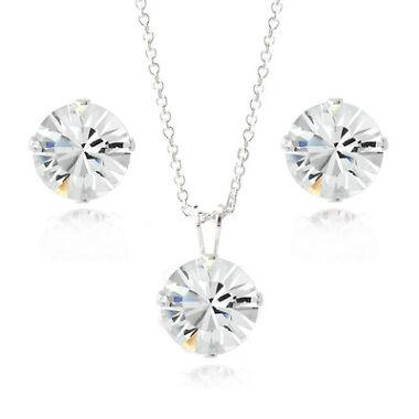 Swarovski Necklace & Stud Earrings Set