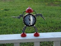 Large Robot Gear Alarm Clock With Alligator Clips Hands Usa Stocked & Shipped