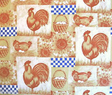 Country Chicken Rooster Hen Eggs Contact Paper Shelf Drawer Liner Peel Stick