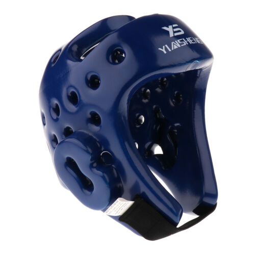 Boxing Helmet Martial Arts Muay Thai Training Headgear Face Protector Blue L