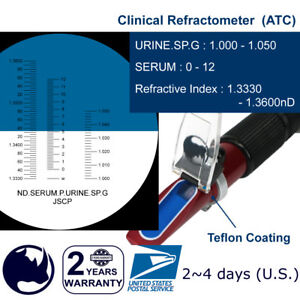 Clinical-serum-protein-amp-Specific-Gravity-Refractometer-with-ATC-Portable-holster