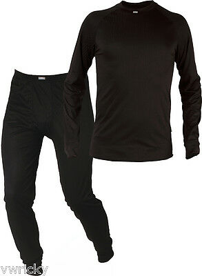 Mens Black Thermal BASE LAYER Underwear SET for Trekking Hiking Thermals new