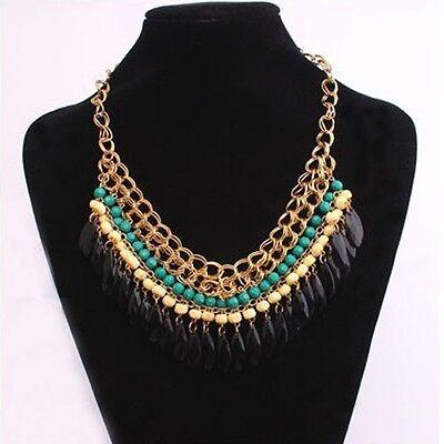 Fashion Pendant Chain Crystal Choker Chunky Statement Bib Necklace Jewelry Hot