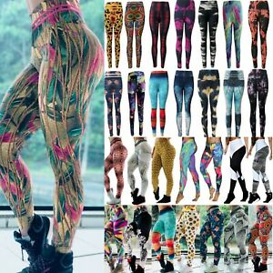 Women-Yoga-Leggings-Gym-Sports-Pants-Running-High-Waist-Fitness-Stretch-Trousers