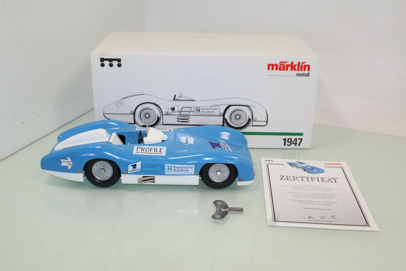Märklin métal 1947 voiture de course  MB 300 SL avec horloge Ascenseur NEUF neuf dans sa boîte (js8446)  qualité authentique