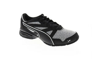 Puma Tazon Modern Pebble Mens Black Textile Athletic Lace Up Running Shoes