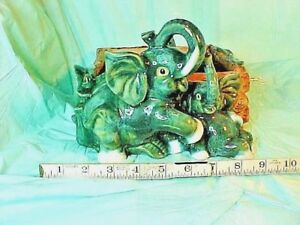 Large Planter Vintage Lucky Elephant  PLANT PLANTER  Ceramic  COPYRIGHT PENDING