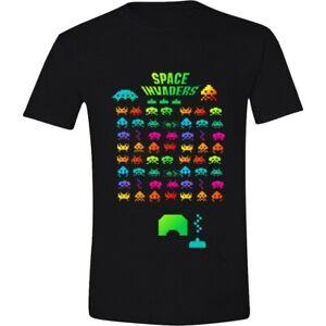 Space-Invaders-Multi-Coloured-Official-Merchandise-T-Shirt-M-L-XL-Neu