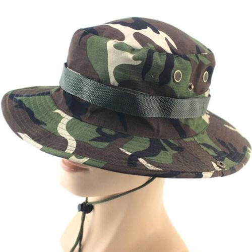 Bucket Hat Boonie Camping Fishing Outdoor Cap Wide Brim Military Unisex Sun Camo