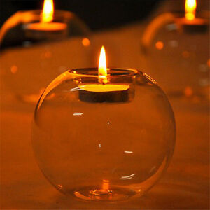 Crystal Glass Candle Holder Wedding Bar Party Meal Decor Candlestick YJ