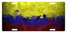 Colombia Flag Custom License Plate Colombian Emblem Paint Version