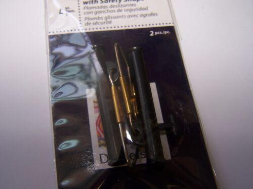 Danielson Plomb diapos avec sécurité Snaps Grande Taille Pack de 2 Noir//Couleur Or