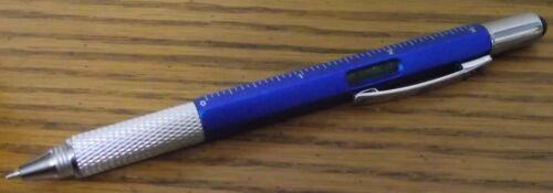 Multi-Function 6 in 1 Ball-point Pen Level Caliper Screwdriver Ruler Tool