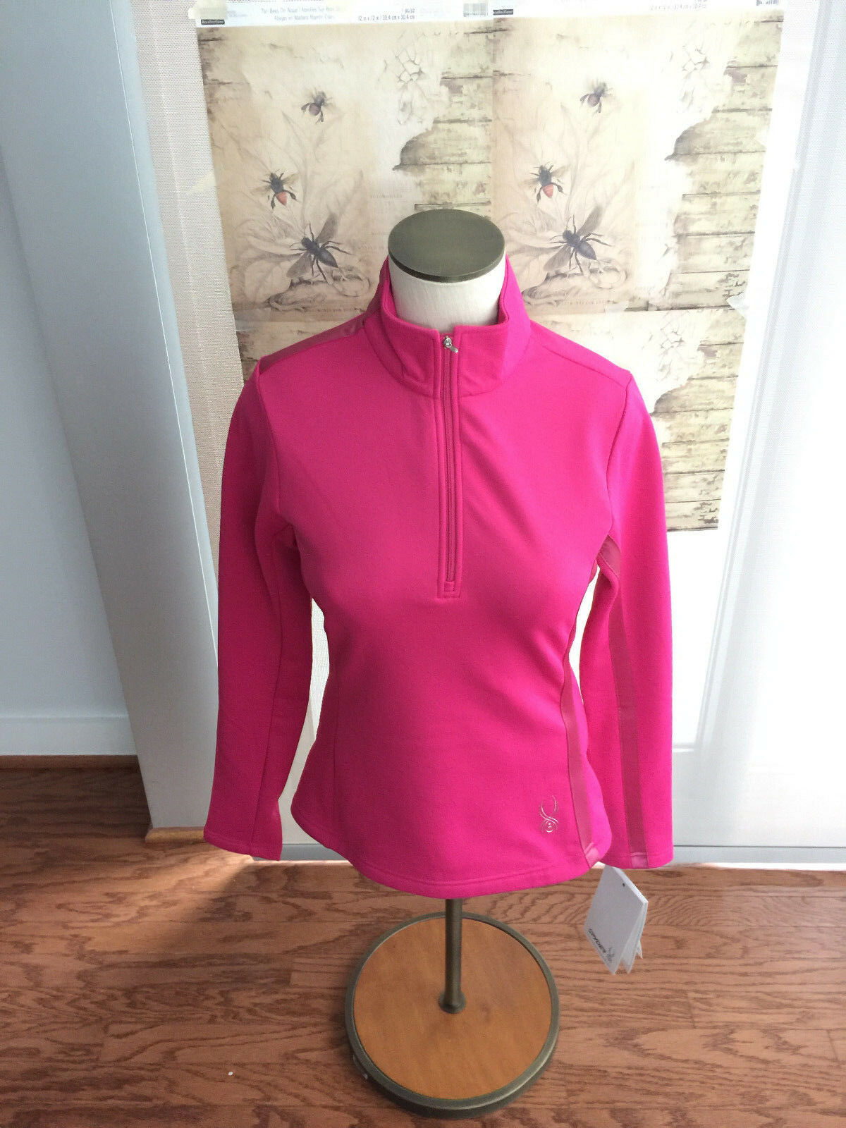 Spyder NWT Half Zip Midweight Core Sweater Pink Pull Over Long Sleeve Size 6
