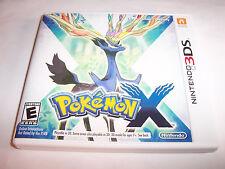 Pokemon X Nintendo 3DS XL 2DS Game w/Case & Manual