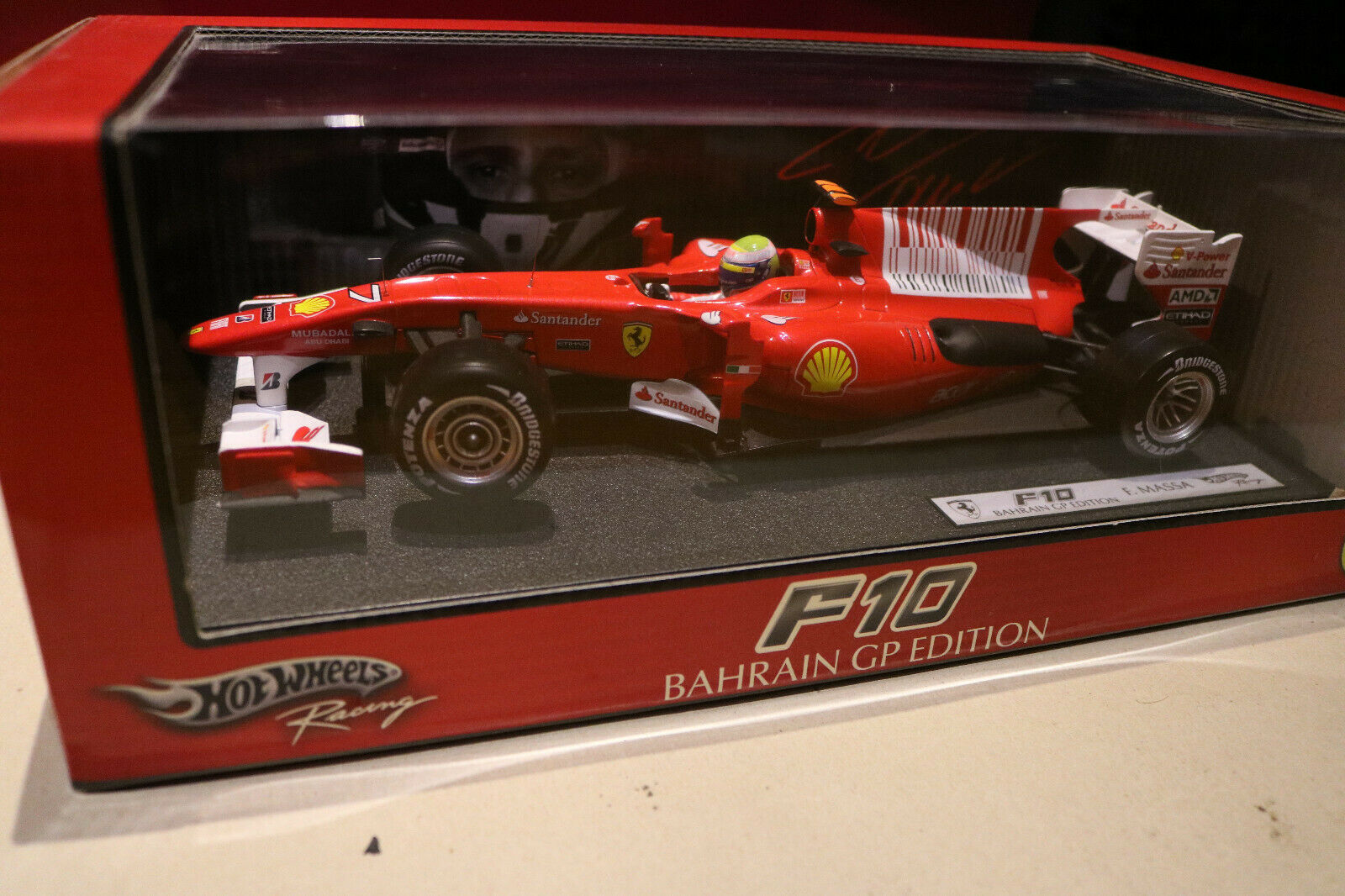 Fórmula 1 felipe massa 1 18 ferrari 2010 f10 Bahréin gp Edition sin abrir en el embalaje original