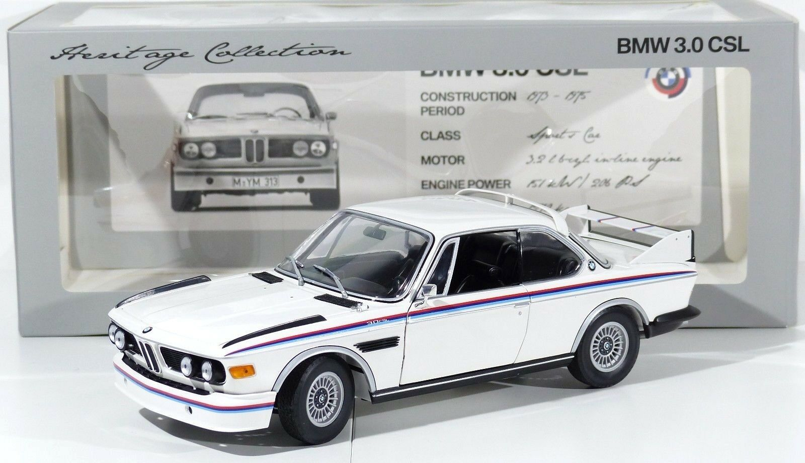 Motorsport-Collection bmw 3.0 CSL Coupe (e9) 1973-75 Minichamps nuevo embalaje original 1 18