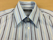 DOLCE & GABBANA Mens NEW Italy Button Front Dress Shirt Tag Sz 15 3/4 - 40