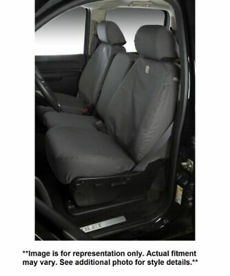 Covercraft Carhartt SeatSaver Front Row Custom Fit Seat Cover for Select Toyota Tacoma Models Duck Weave Gravel - SSC2509CAGY