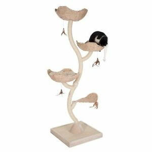 Flower-Shaped-Cat-Tree-Scratching-Post-3-Cosy-Cushioned-Beds-58-x-58-x-183cm
