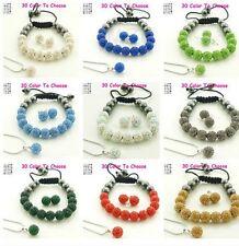 9set/lot 10mm mixed hot crystal shamballa set earring necklace pendant bracelet