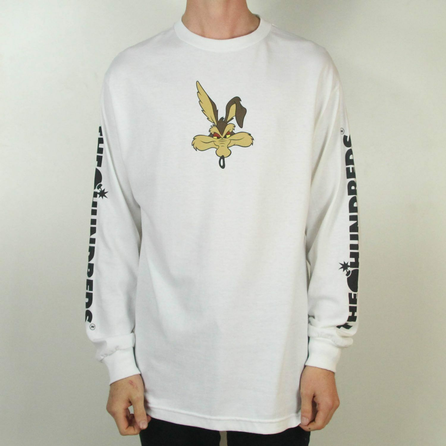 The Hundreds x ACME Wil-E Long Sleeve T-Shirt New - White in Size S,L