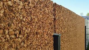 Sichtschutz-Wand-Kork-Platte-100x50x3cm-Larmschutz-Lichtschutz-Gabione-Zaun