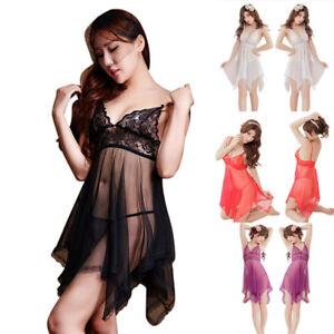 Erotic-Sexy-Pajamas-Nightdress-Nightgown-Babydoll-Nightie-Lingerie-Costum-NTAT
