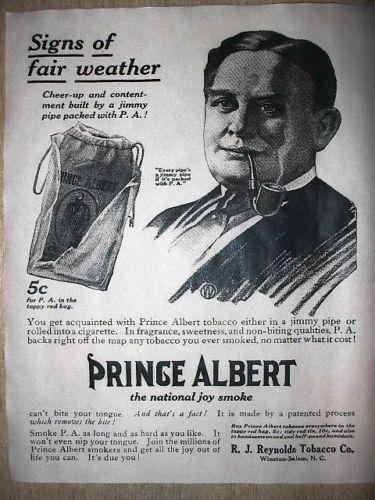 "212 VINTAGE REPRINT ADVERT PRINCE ALBERT PIPE TOBACCO 1913 11/""x14/"""