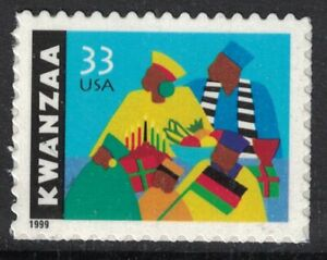 Scott-3368-Kwanzaa-Celebration-MNH-S-un-33c-1999-sin-Usar-Nuevo-Sello