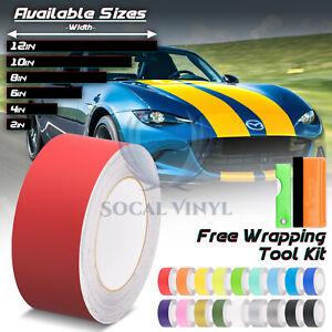 Matte Color Racing Stripes Vinyl Wrap For Mazda Miata Mx 5 Stripe 25ft 50ft Ebay