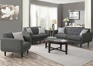 Modern-Living-Room-2-or-3-Piece-Sofa-Loveseat-Chair-Couch-Set-Grey-Fabric