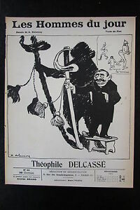 Theophile-Delcasse-Politique-Caricature-Drawing-the-Men-Jour-No-25-of-1908