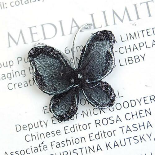 50pcs Black Mesh Stocking Glitter Butterfly Wedding Decoration Craft DIY