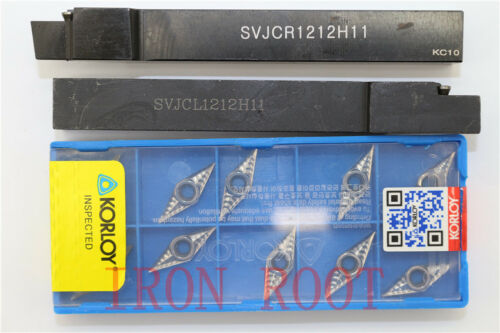 1P SVJCR1212H11+SVJCL CNC Boring Bar Tool Holder 10p VCGT110304-AK H01 Insert