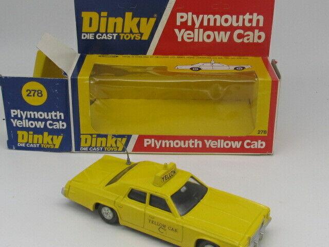 DINKY  TOYS 278 PLYMOUTH GRAN FURY jaune CAB VNMINT ALL ORIGINAL MADE IN UK '78  vente au rabais