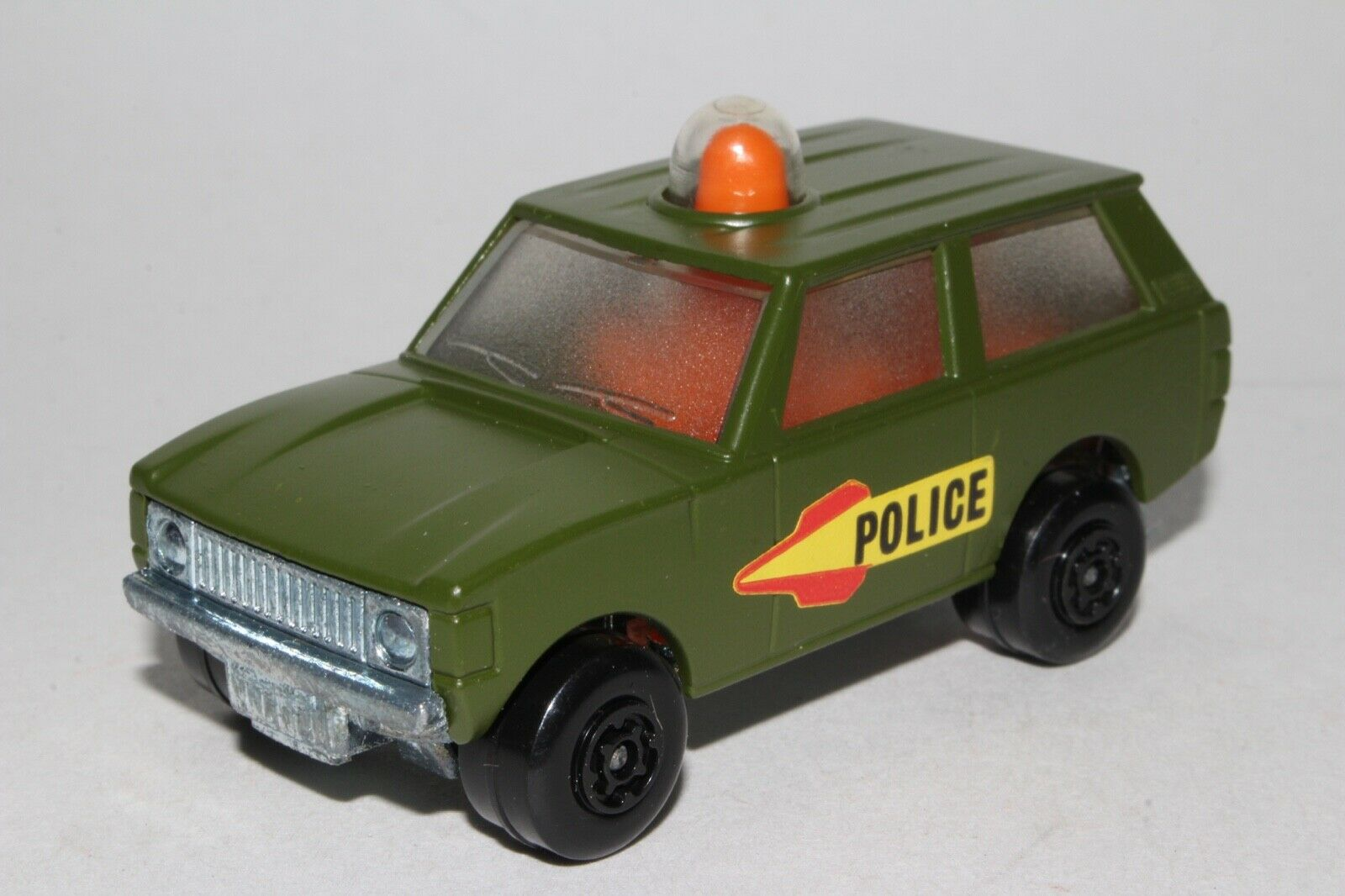 MATCHBOX SUPERFAST POLICE ROLL PATROL, SCARCE OLIVE DRAB, EXCELLENT