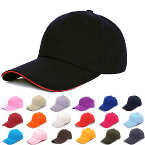 4daabeae02e Men Women New Black Baseball Cap Snapback Hat Hip-Hop Adjustable ...