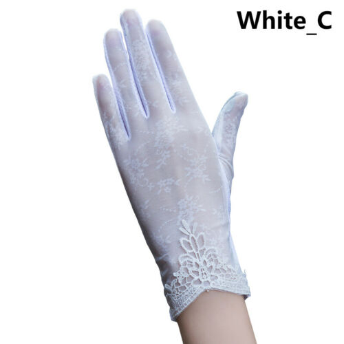 Driving Gloves Women Summer Anti UV Sun Protection Lace Touch Screen Mittens