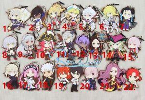 Fate//Grand Order FGO Anime Figure Keychain Keyring Rubber Strap Bag Charm Cospa