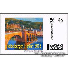 """BRIEFMARKE INDIVIDUELL Einzelmarke """"Heidelberger Herbst 2016"""", Cl. Martine, NEU"""
