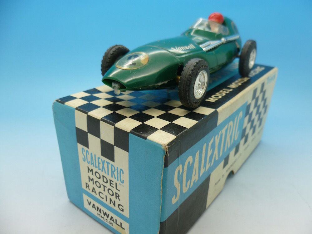 C55 Scalextric Vanwall, No2 in green mint boxed example.