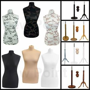 FEMALE TAILORS DUMMY SIZE 12-14 FASHION STUDENT DRESS DISPLAY BUST MANNEQUIN