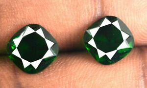 4.70 Ct Colombian Emerald Eye Clean Gemstone Pair Cushion Natural Certified CC52