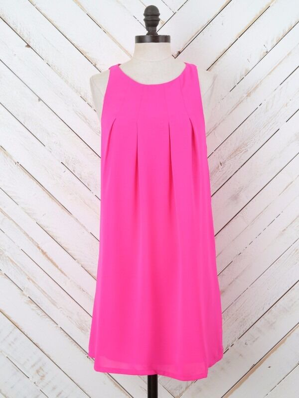 Altar'd State Hot Pink Racer Dress S Small Loose Drapey Summer Beach NWOT