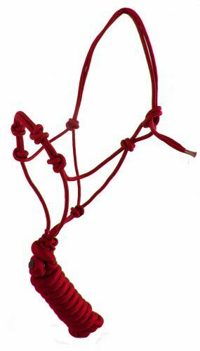 Clinician Cowboy Knot Rope Yearling size Horse Training Halter w// 10/' Lead Rope